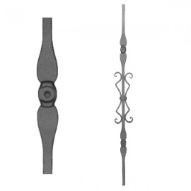 Wrought iron stamped heavy bar 556-12