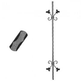 Wrought iron pierced heavy bar 600-02