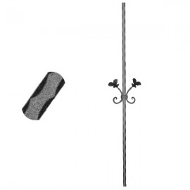 Wrought iron pierced heavy bar 600-03