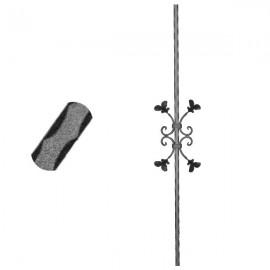 Wrought iron pierced heavy bar 600-04