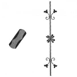 Wrought iron pierced heavy bar 600-07