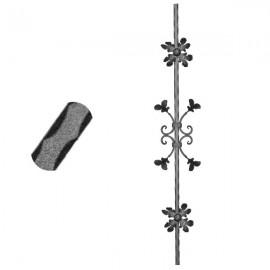 Wrought iron pierced heavy bar 600-08