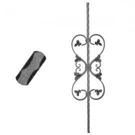 Wrought iron pierced heavy bar 600-09