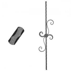 Wrought iron pierced heavy bar 600-10
