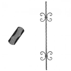 Wrought iron pierced heavy bar 600-12