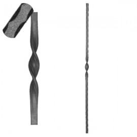 Wrought iron pierced heavy bar 601-01