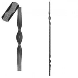 Wrought iron pierced heavy bar 601-02