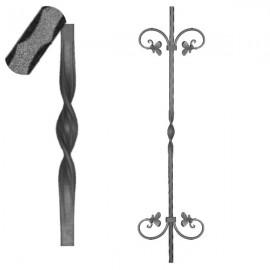 Wrought iron pierced heavy bar 601-05