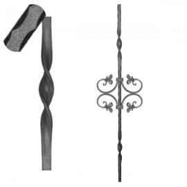 Wrought iron pierced heavy bar 601-06