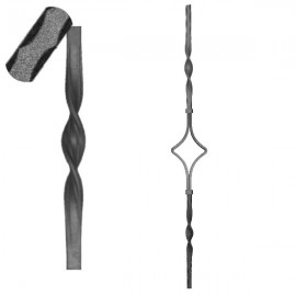 Wrought iron pierced heavy bar 601-09