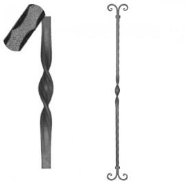 Wrought iron pierced heavy bar 601-11
