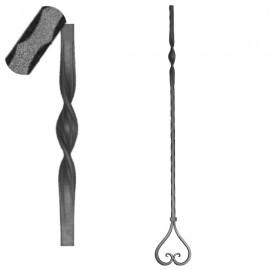 Wrought iron pierced heavy bar 601-12