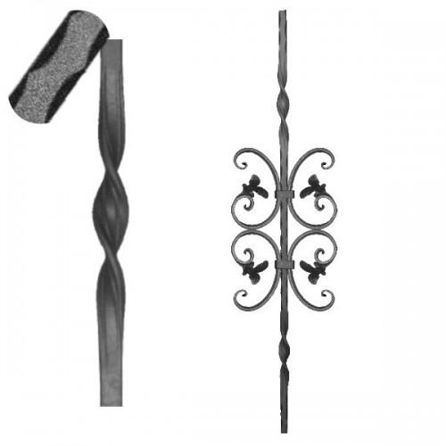 Wrought iron pierced heavy bar 601-23