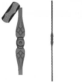 Wrought iron pierced heavy bar 602-03