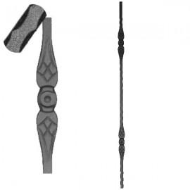 Wrought iron pierced heavy bar 602-04