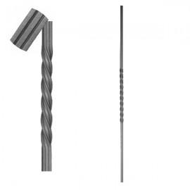 Wrought iron striped heavy bar 650-02