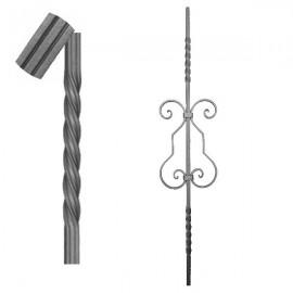 Wrought iron striped heavy bar 650-05