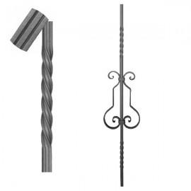 Wrought iron striped heavy bar 650-06