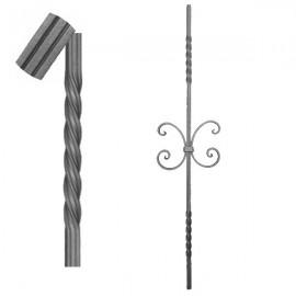 Wrought iron striped heavy bar 650-08
