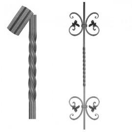 Wrought iron striped heavy bar 650-09
