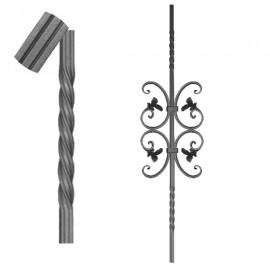 Wrought iron striped heavy bar 650-10