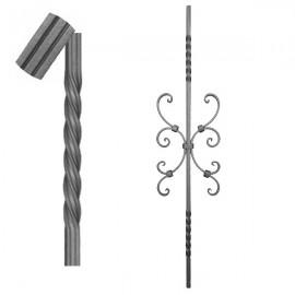 Wrought iron striped heavy bar 650-12