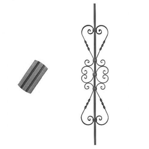 Wrought iron striped heavy bar 650-68