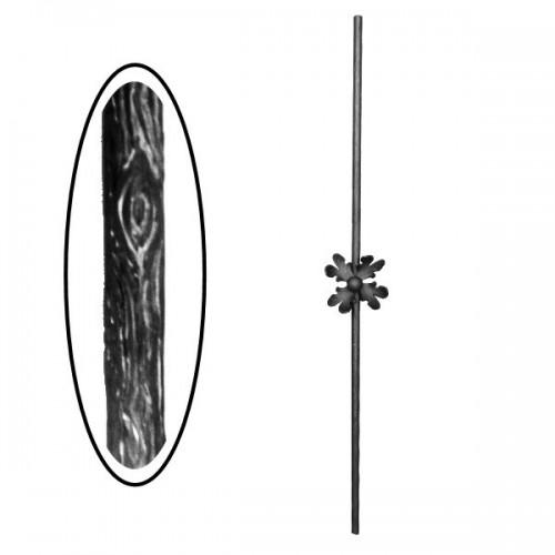 Wrought iron wooden heavy bar 700-02