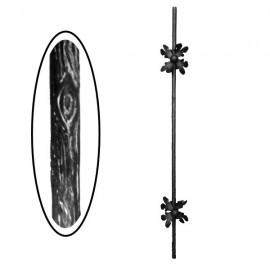 Wrought iron wooden heavy bar 700-03