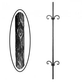 Wrought iron wooden heavy bar 700-06