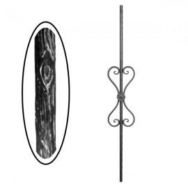 Wrought iron wooden heavy bar 700-07