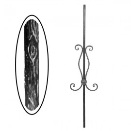 Wrought iron wooden heavy bar 700-08
