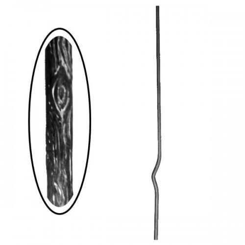 Wrought iron wooden heavy bar 700-09