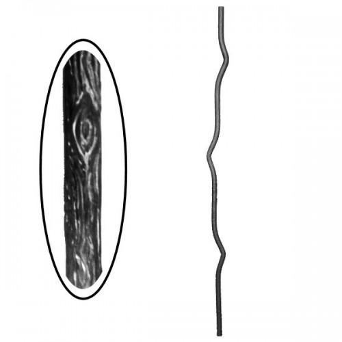 Wrought iron wooden heavy bar 700-10