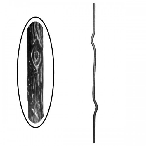 Wrought iron wooden heavy bar 700-11