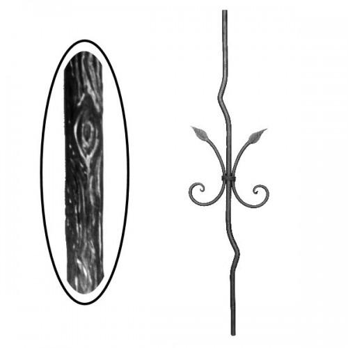 Wrought iron wooden heavy bar 700-15