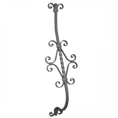 barreau courbe en fer forg 950 03 forja rafael c b. Black Bedroom Furniture Sets. Home Design Ideas