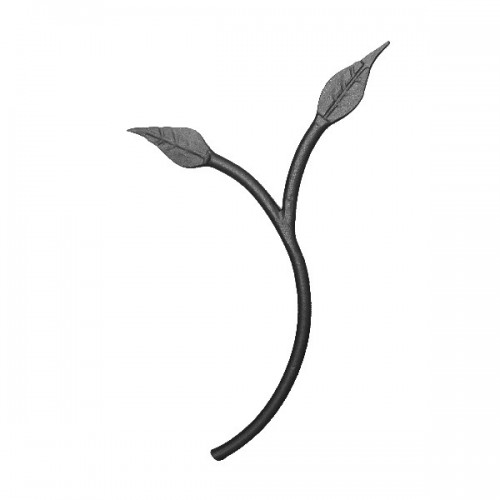 Wrought iron leaves 250-02