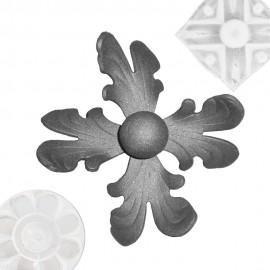Wrought iron rosette