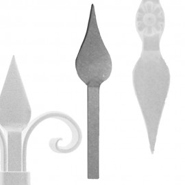 Wrought iron spears
