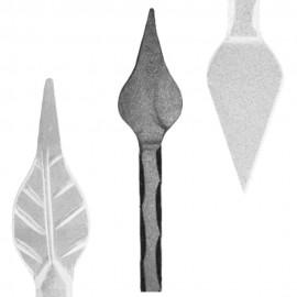 Wrought iron pierced spear