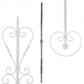 Wrought iron heavy bars serie 551