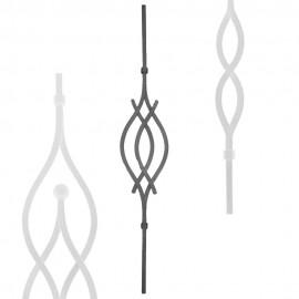Wrought iron heavy bars serie 553