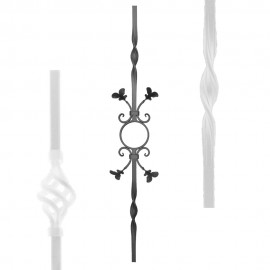 Wrought iron stamped heavy bar serie 555