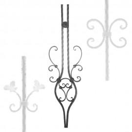 Wrought iron pierced heavy bar serie 600