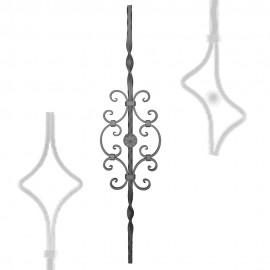 Wrought iron pierced heavy bar serie 601