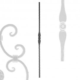 Wrought iron pierced heavy bar serie 602