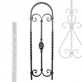 Wrought iron striped heavy bar serie 650