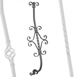 Wrought iron curved heavy bar serie 950