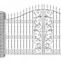 Fence doors